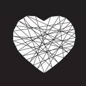 Vector illustration heart icon — Stock Vector