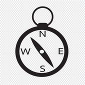 Compass icon vector illustration — Stock Vector