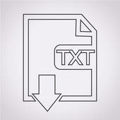 File type TXT icon — Stock Vector