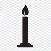 Candela icona illustrazione vettoriale — Vettoriale Stock