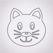 Cat icon vector illustration — Stock Vector