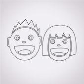 Kids icon vector illustration — Stock Vector