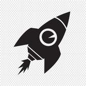 Rocket icon vector illustration — Stock Vector