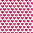 Vector heart Valentines day pattern background — Stock Vector #71589169