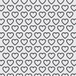 Vector heart Valentines day pattern background — Stock Vector #71589423