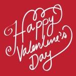 HAPPY VALENTINES DAY Hand Lettering handmade calligraphy vector — Stock Vector #71589671