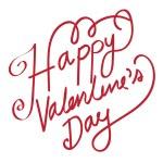 HAPPY VALENTINES DAY Hand Lettering handmade calligraphy vector — Stock Vector #71589683
