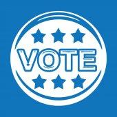 Vote icon ,  vote,  vote button — Stock Vector