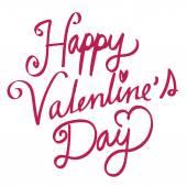 Heureuse Saint Valentin main lettrage à la main calligraphie — Vecteur