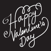 HAPPY VALENTINES DAY Hand Lettering handmade calligraphy — Stock Vector