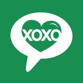 Xoxo любовь сердца, день Святого Валентина иллюстрации — Cтоковый вектор
