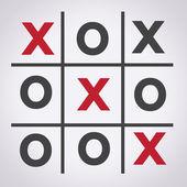 Tic tac toe XO game ,  tic, tac, toe, x, game, o — Stock Vector