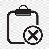 Clipboard check list icon — Stock Vector