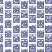 Washing machine pattern background — Stock Vector