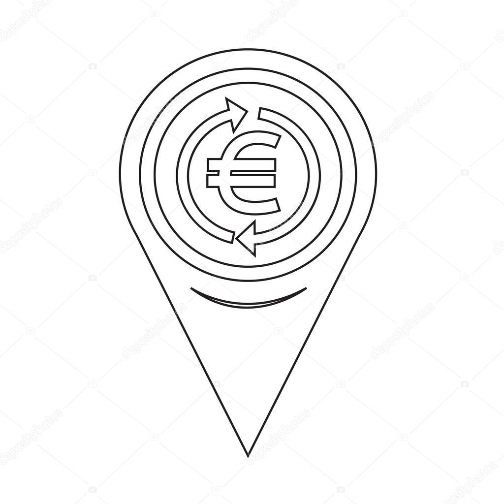 地图别针指针钱欧元图标 — 图库矢量图像08 porjai
