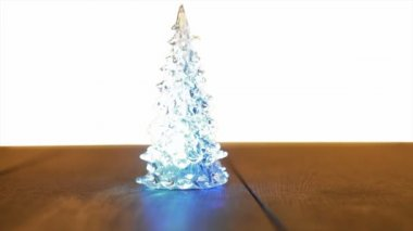Christmas tree lamp decoration — Stock Video