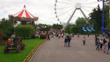 View, park, attractions.  4K.  St. Petersburg, summer 2014. — Stock Video