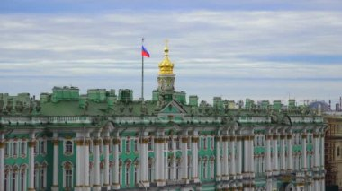 Petersburg. View from the roof. The Hermitage. 4K. — Stock Video