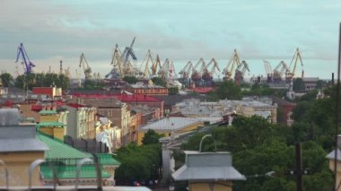 Petersburg. View from the roof. The Centre Of The City. 4K. — Stock Video