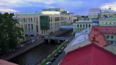 Petersburg. View from the roof. Mariinsky theatre. 4K. — Stock Video