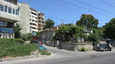 Varna. Bulgaria. Buildings, streets, districts. 4K. — Stock Video