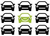 Ecology car friendly concept. Vector. — Stok Vektör