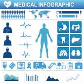 Medical, health and healthcare icons and data elements, infograp — Stock Vector