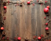 Pomegranate with pine cones.frame — Stock Photo