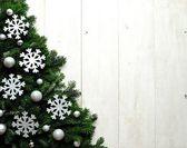 Snow flakes Christmas tree — Stockfoto