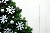 Snow flakes Christmas tree — Stok fotoğraf