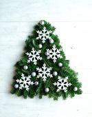 Płatek śniegu choinki — Zdjęcie stockowe