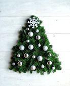 Snow flake Christmas tree — Stock Photo