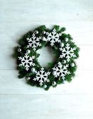 Snow flakes Christmas wreath — Stockfoto