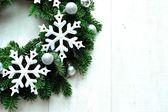 Snow flakes Christmas wreath — Stock Photo