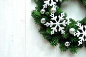 Snow flakes Christmas wreath — Стоковое фото