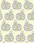 Textura sin fisuras con manzanas — Vector de stock