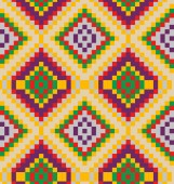 Pattern with tribal ornament — Stock vektor