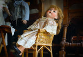 Scary Antique Doll — Stock Photo