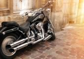 Photo of Harley Davidson on the street — Stock Photo