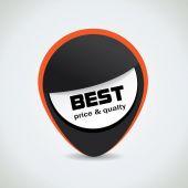 Melhor preço e qualidade preto marca — Vetor de Stock