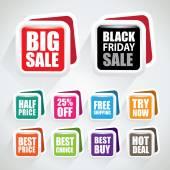 Bolhas de venda em cor diferente do funk — Vetor de Stock