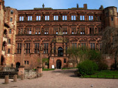 Heidelberg Castle Ottheinrichsbau — Stock Photo