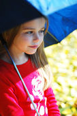 Girl and umbrella. — Stock Photo