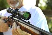 Weapon  shotgun hunting. — Stock Photo