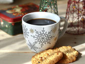 Christmas coffee. — Stock Photo