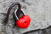 Heart lock concept of love — Stock Photo