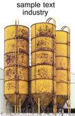 Vintage barrel fuel industry — Stock Photo