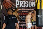 Prison Fight round 6 competition — Stock Photo