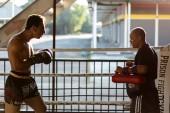 Prison Fight round 6 competitio — Stock Photo