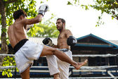 Prison fight, muay thai competition — Stock Photo